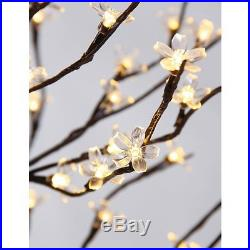 Christmas Blossom Tree Warm White 208 LED Lights Indoor Outdoor Decoration