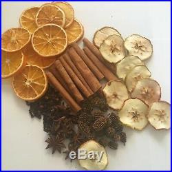 Christmas Cinnamon Dried Orange & Apple Slices Casuarina Pods Cloves Star Anise