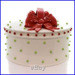 Christmas DRESSED UP CAKE DOME Ceramic Christmas Patience Brewster 830594