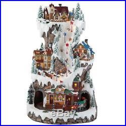 Christmas Decor 20 (50.8cm) Sculpture LED Winter 3 Level Village Scene BRAN NEW