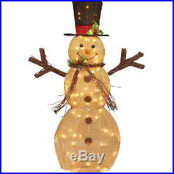 Christmas Decor Lighted Snowman 48 Indoor Outdoor Yard Xmas Holiday Decoration
