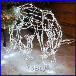 Christmas Decor Novelty Lights Deer Family 230 LED Outdoor Garden Festive Home