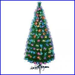 Christmas Decoration 1.8m Fibre Optic Color changing Starburst Green Xmas Tree