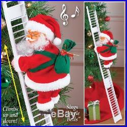 Christmas Decoration Climbing Santa Claus Ladder Xmas Tree Hanging Home Decor