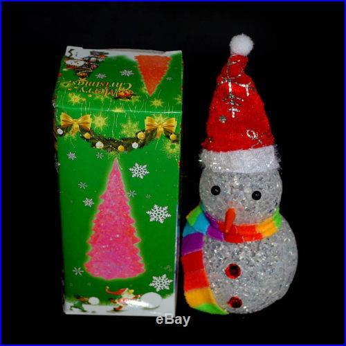 Christmas Decoration Flashing Led Christmas Snowman Xmas