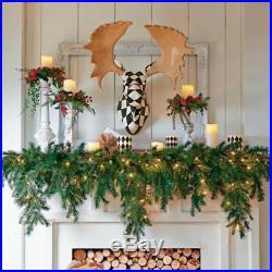 Christmas Decorations 6′ Cascading Garland Decorative Mantel Piece Holiday Decor