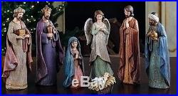 Christmas Decorations A Child Is Born 7-piece Nativity Set 11.5′h