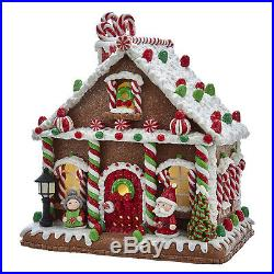 Christmas Decorations Led Lighted Gumdrop Gingerbread House