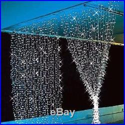 Christmas Decorations Leds White LED Curtain Light Fairy Festival Wedding Home