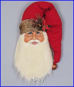 Christmas Decorations Woodland Santa Head Wall Art 31h Door Decoration