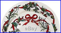 Christmas Dinner Plates Set Holiday Table Decoration Xmas Party Décor 4-piece