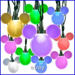 Christmas Disney Magic Holiday Mickey Mouse Rainbow Wave String Lights 25 Ct New
