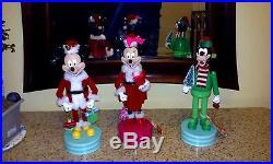 Christmas Disney Mickey, Mini & Goofy Wooden Nutcrackers New With Tags
