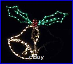 Christmas Double Bell Animated Outdoor LED Lighted Decoration Steel Wireframe