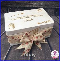Christmas Eve Box Personalised Wooden Engraved Santa Crate Xmas