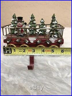 Christmas Express Snowman Christmas Tree Train Car Stocking Holder