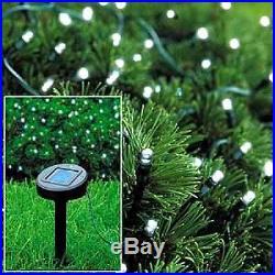 Christmas Fairy Light Xmas Gift White LED Solar Garden Decor Lamp Bulb Outdoor