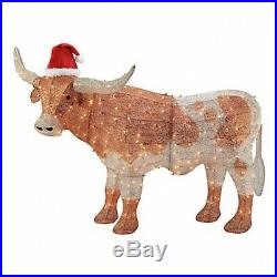 Christmas Farmhouse 48H LED Lighted COW Indoor or Outdoor Holiday Decor NEW