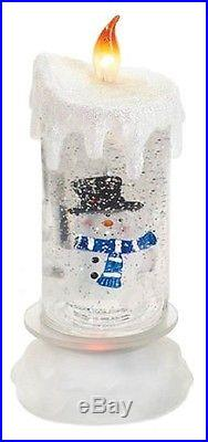 Christmas Flameless Candle Pillar LED Decor Snow Lot Frosty Set Snowman Globe