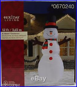 Christmas Gemmy 12 ft Lighted Snowman Airblown Inflatable NIB
