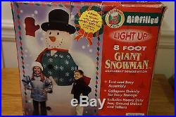Christmas Giant 8 Foot Inflatable Snowman Yard Decoration