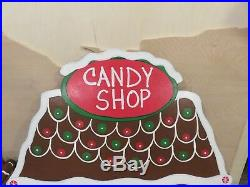 Christmas Gingerbread Candy Shop Wood Outdoor Yard Art, Christmas Outdoor Decor