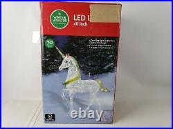 Christmas Glitter Unicorn Lighted Yard Art Decoration Indoor/Outdoor 40 Inch