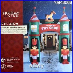 Christmas Holiday Living Airblown Archway Santa's Toy Shop 12 ft Tall Inflatable