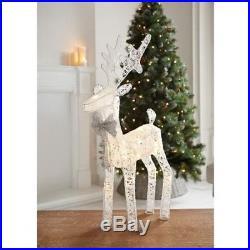 Christmas Indoor Decor Light Up Reindeer- 20 LED Light Gold/Silver/White Color