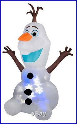 Christmas Inflatable 8′ Projection SNOWFLURRY Olaf the Snowman FROZEN MOVIE