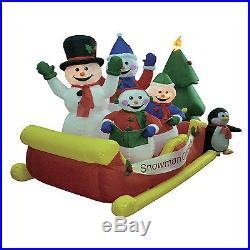 Christmas Inflatable Air Blown Yard Decoration Snowman Sleigh Tree Outdoor Decor