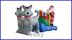 Christmas Inflatable Santa Claus Husky Dog Sleigh Sled Garden Balloon Decoration