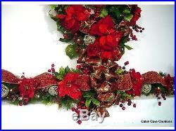 Christmas Joy Decorated Christmas Garland prelit Victorian Holiday Traditional