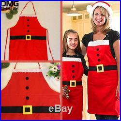 Christmas Kitchen Bar Decor Santa Claus Red Non-woven Xmas Family Party Aprons