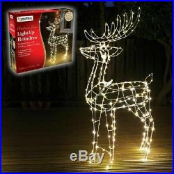 Christmas Large Reindeer Garden Outdoor Light Up Rope Decoration Silhouette LED