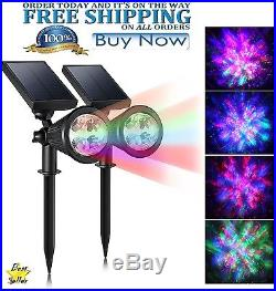 Christmas Laser Light Projector Solar 4 Colors LED Outdoor Waterproof Party