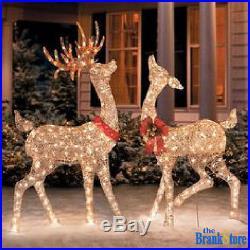Christmas Light Sculpture Set Buck Doe Xmas Decoration Outdoor Yard Decor