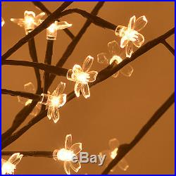 Christmas Light Tree 600 LED Cherry Blossom Flower Tree Light Decoration 7.9ft