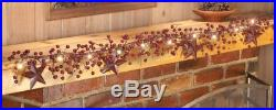 Christmas Lighted Garland LED Primitive Country Berry and Rustic Star Garland