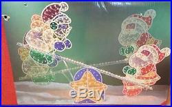 Christmas Lighted Snowman + Santa Seesaw Animated 48 Home Yard Lawn Decor