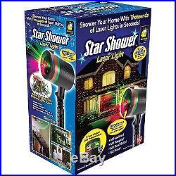 Christmas Lights LED Decorations Outdoor Laser Vintage String White Star Shower
