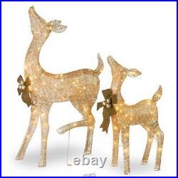 Christmas Lights National Tree Company Co 28&38 Crystal Splendor Doe Fawn Deer