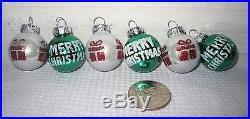 Christmas MINI Glitter Green White Glass Ornaments Decorations Decor