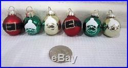 Christmas MINI Glitter Red Green Gold Glass Ornaments Decorations Decor