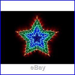 Christmas Multicolour 100 LED Star Window Light Party Decoration
