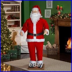 Christmas Musical Santa Staue Life Size 70 Prop Figure Dancing MP3 Easy Storage