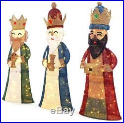 Christmas Nativity Scene 52 in. LED Lighted 3 Wisemen (3-Piece) indoor/outdoor