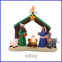 Christmas Nativity Scene Airblown Yard Inflatable 7′ft Prelit Jesus Mary Joseph