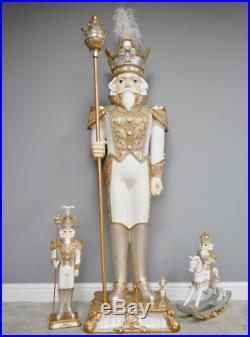 Christmas Nutcracker Decoration Resin Soldier Vintage Puppet Standing Ornaments