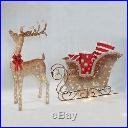 Christmas Ombre Reindeer and Sleigh LED Bulbs Indoor Outdoor Decoration